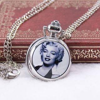 Vintage Marilyn Monroe #6 Antique Style Gift Quartz Necklace Pocket