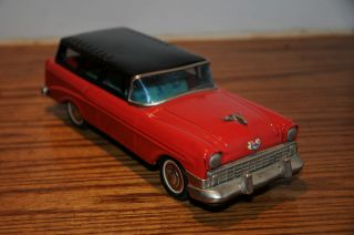 VINTAGE JAPAN TIN BANDAI TOY CAR CHEVROLET FRICTION MOTOR CHEVY