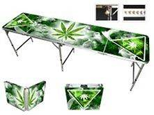 Weed Beer Pong Table   8ft Portable Folding Design   90 Day Warranty