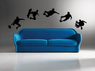 Removable Vinyl wall art decal decor sticker skate boarding