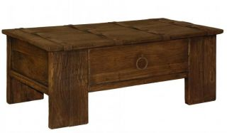 Rustic 1 drawer coffee table reclaimed wood iron old elm Beautiful