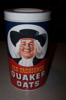 Regal China Quaker Oats Advertising Cylinder Cookie Jar
