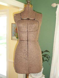 Antique Dress/Mannequin Form Adjustable with Stand Steam Punk Estate