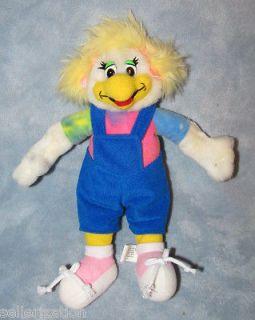 1996 Chuck E Cheese Girl Helen the Hen Plush Toy 10 Tie Dye Shirt