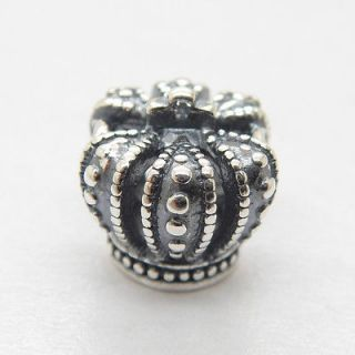 925 Silver Core Imperial State Crown European charm bead LW099
