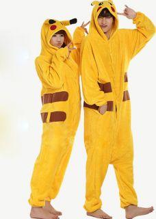 Unisex Pokemon Pikachu Pajamas Cosplay Japan Anime Costume Halloween