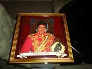 RARE Michael Jackson Print Mirror Picture Art Official Triumph