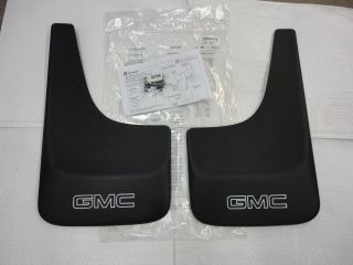 2001 2012 GMC Sierra Yukon 2 PC Molded Mud Flaps with GMC Logo OEM