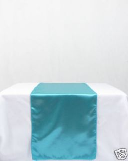 New Turquoise Satin Table Runners 12 x 108 Wedding Party Decorations