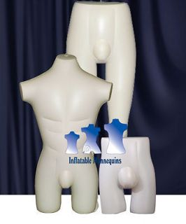 Inflatable Mannequin   Male Brief, Short, Swimsuit Collection, Ivory