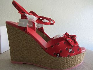 HELLO KITTY Lila Style Ankle Strap Wedges High Heels Shoes NEW IN BOX