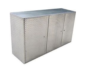 Aluminum Diamond Plate 6 Cabinet Base Storage Shop Race Car Enclosed