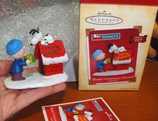 Hallmark Ornament Peanuts Gang Snoopy Charlie Brown Merry Christmas
