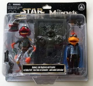 Disney Star Wars Tours THE MUPPETS Action Figures Animal Boba Link