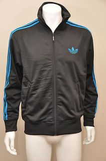 Adidas Originals Adi Firebird Black / Craft Blue Mens Track Jacket L