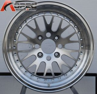 16X8 VARRSTOEN V3 CCW STYLE WHEEL 4x100 +25 MACHINED FIT CIVIC SI