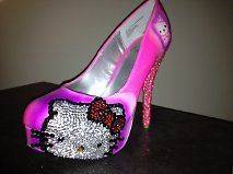 hello kitty high heels in Clothing,