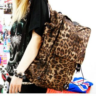 Book bag Travel Bag Leopard Animal Print Punk Unisex Bloodycat