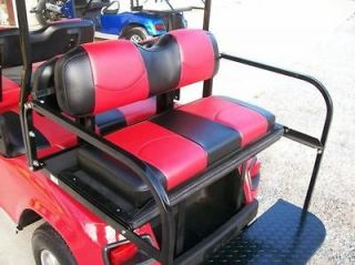 EZ GO TXT Golf Cart Custom Deluxe Seat Covers Front and Rear  Staple