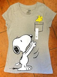Peanuts Snoopy & Woodstock bird in pocket XXL size Gray T shirt NWT