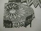 Vintage Alice Brooks CROCHETED TABLECLOTH Pattern Crochet Cloth 7520