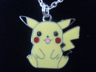 Pikachu Style Enamel Pendant Necklace Costume/Dress Jewellery