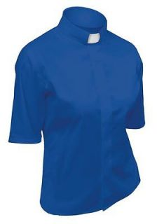 Lydia Womens Short Sleeve Royal Blue Clergy Shirt sz 20 NEW