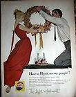 1957 Pepsi Cola Have A Pepsi Merry People Glass Bottle Soda Pop Ad