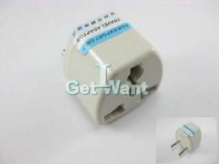 US USA to EU Europe Travel AC Cell Phone Power Plug Converter Adapter