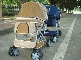 BestPet Sporty Pet Jogger Jogging Dog Cat Stroller Carrier blue brown