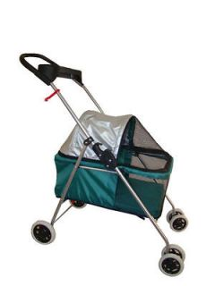 New BestPet Cute Teal Posh Pet Stroller Dogs Cats w/Cup Holder