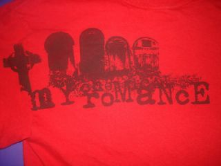 RETRO My Chemical Romance Shirt Small  Rock Band Red Tee