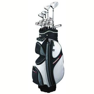 X9 MENS RH GRAPHITE & STEEL HYBRID GOLF CLUB PACKAGE SET & CART BAG