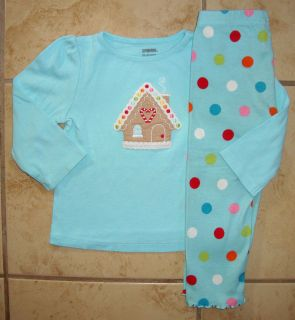 GYMBOREE COZY CUTIE Christmas Top Leggings Outfit Girl Size 18 24