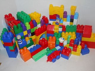 275pcs COLORFUL MEGA BLOKS BUILDING BLOCKS BASES PEOPLE CAR LoTsAfUn