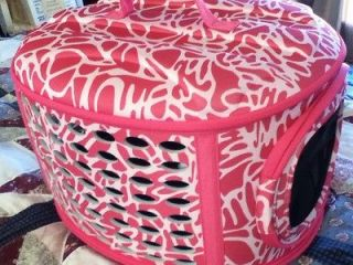 Petmate Pink Leopard Zebra Print Luxury Pet Animal Dog Cat Carrier