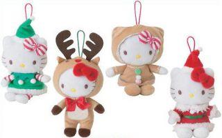 SANRIO HELLO KITTY SANTA REINDEER GINGERBREAD HOLIDAY CHRISTMAS PLUSH