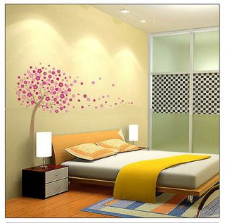 Cherry Blossom Flowers Tree Wall Stickers Art Mural Nursery Wallpaper
