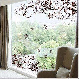 Flower Butterfly Removable PVC Wall Sticker Home Decor Art Decal