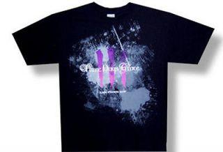New Three Days Grace Life Starts Now Tour Logo Large Black T