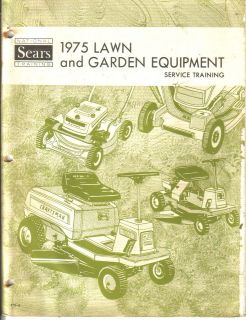 1975 Lawn & Garden Equipment Service Training reference manual