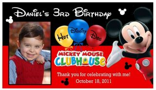 12 MICKEY MOUSE CLUBHOUSE BIRTHDAY PARTY PHOTO MAGNETS PARTY FAVORS