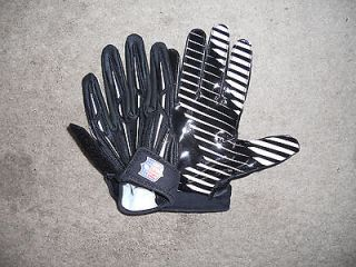 Black/White Nike NFL Superbad 2 Football Gloves Mens Size Medium