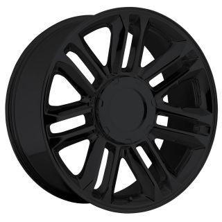 22 Cadillac Escalade Platinum Wheels Rims Set Gloss Black