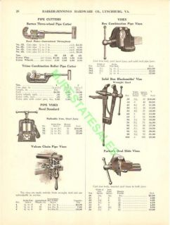 1917 Rex Parkers Vulcan Vise Pipe Cutter Catalog Ad