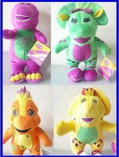 13 inch Barney Singing Plush Doll, BJ, Riff & Baby Bop 4pcs set toy