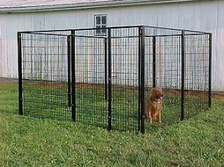 8x16x6h dog run kennel w canvas top outdoor kennels for Cheap dog pens for outside