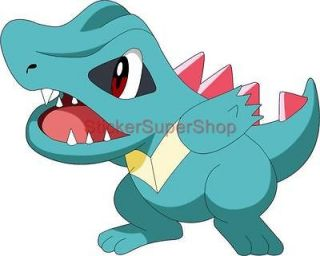 Choose Size   TOTODILE Pokemon Decal Removable WALL STICKER Home Decor