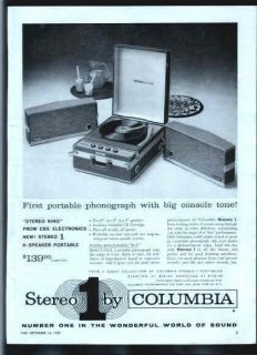 columbia portable record player