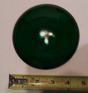 NOS lens Green 4 3/4 marker switch lamp Vintage lantern traffic light